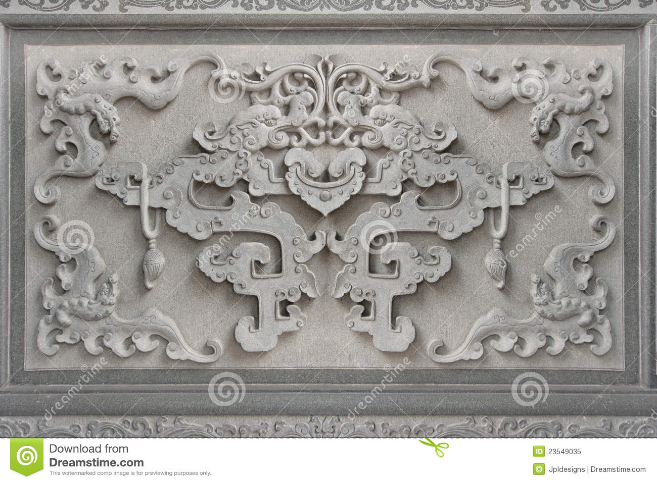 Chinese Bat Symbol Wall Stone Carving Stock Image  Image 23549035