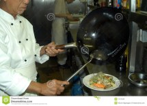 Chinese Chef Cooking Royalty Free Stock