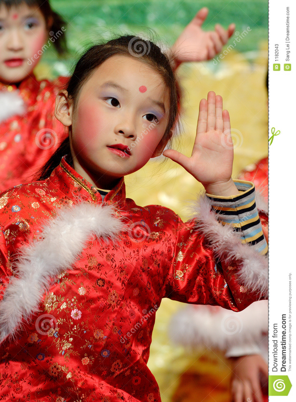 Chinese Children Dancing Stock Image Image Of Little