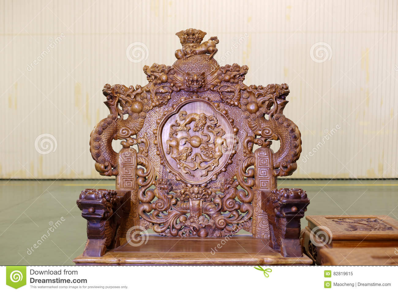 Dragon Chair Chinese Dragon Chair Stock Image Image Of Elegant Classic 82819615