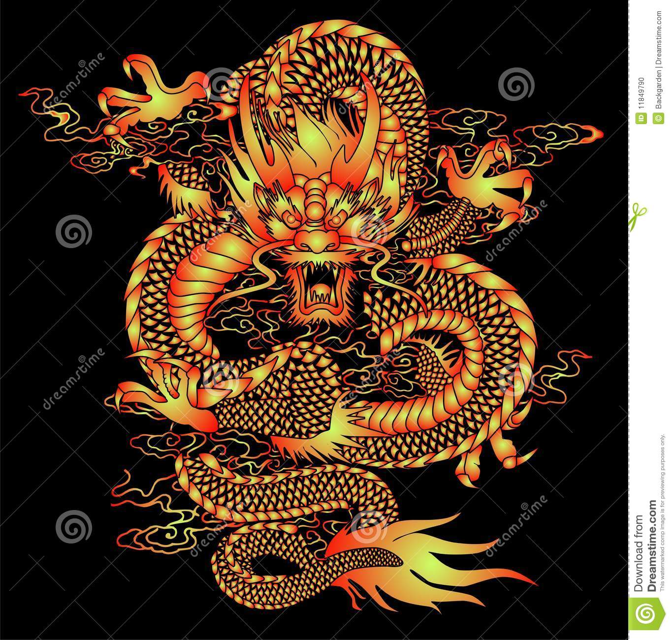 Os X Lion Wallpaper Hd For Iphone Chinese Dragon Pattern Stock Vector Illustration Of
