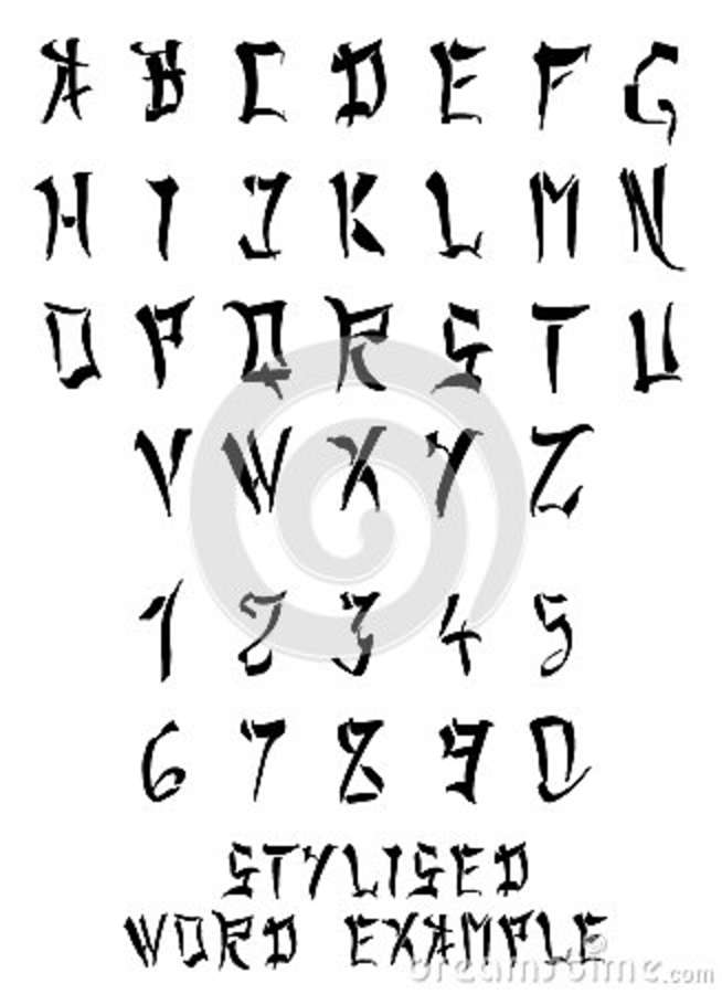 Chinese/Japanese Occidental Imitation Alphabet And Numbers