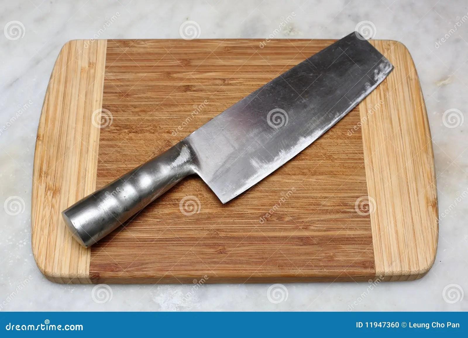 chinese kitchen knife antique blue cabinets stock photo image 11947360