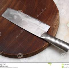 Chinese Kitchen Knife Floor Covering Royalty Free Stock Photos Image