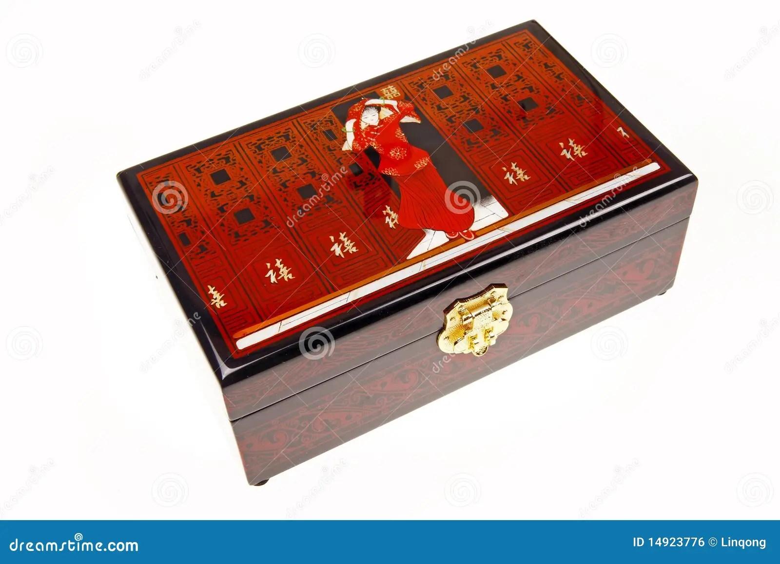 Chinese Lacquerware Jewelry Box Stock Photo Image 14923776