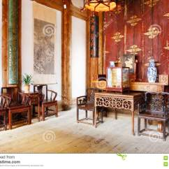 Kitchen Design Plans White Washed Table Chinese Old House Stock Photo - Image: 14762140