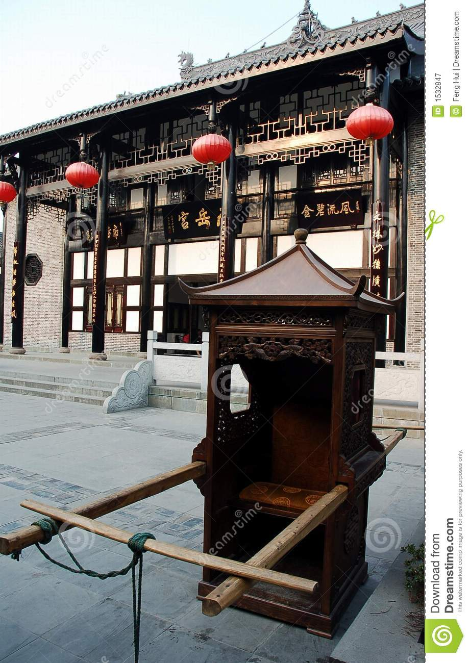 Chinese sedan chair stock image Image of china ancient  1532847
