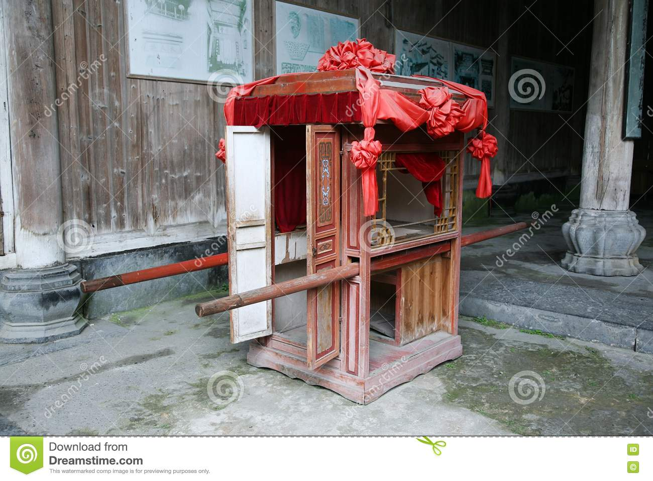 chinese wedding sedan chair covers wish royalty free stock photography image