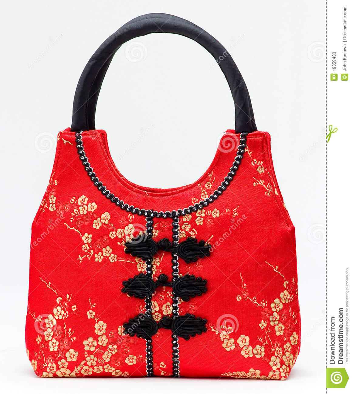 Chinese Style Handbag In Red Color Stock Photo