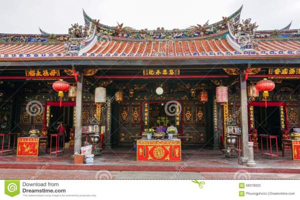 Chinese Temple In George Town Penang Malaysia Editorial