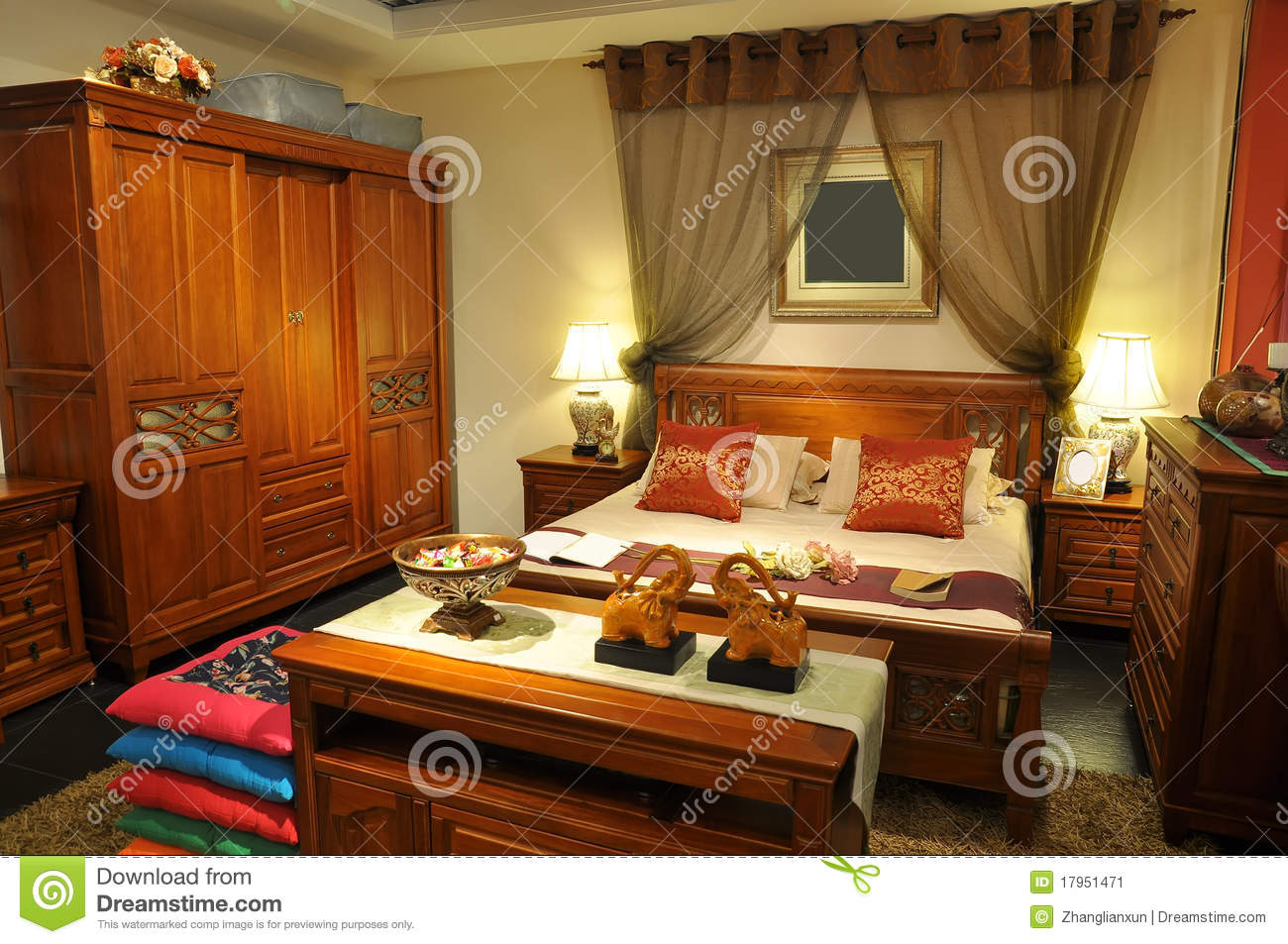 how to decorate a living room sofa table sleigh bed chinese traditional furniture stock image - image: 17951471
