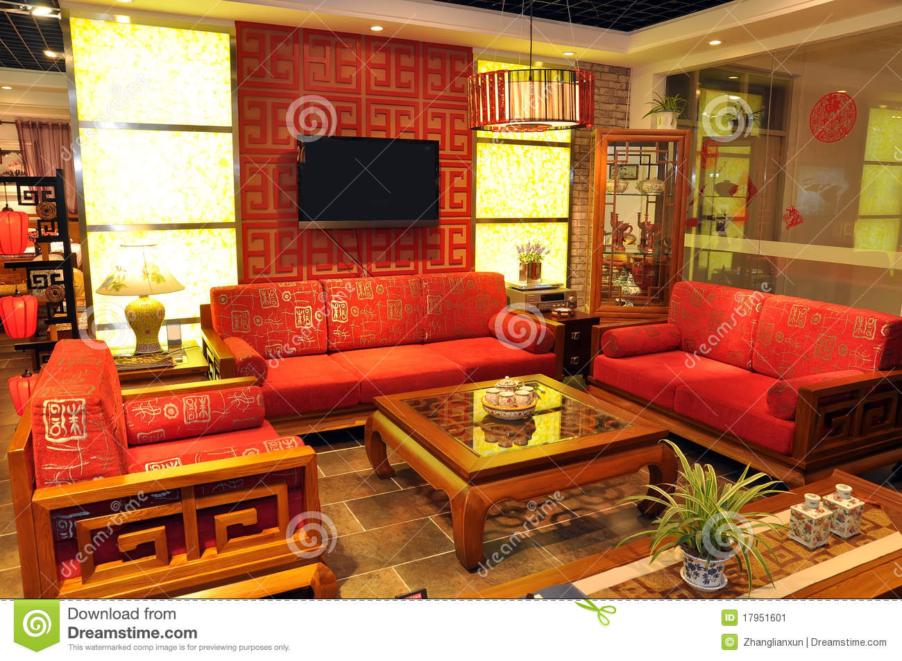 armchair pillow small drop leaf table and chairs chinese traditional furniture stock image - image: 17951601