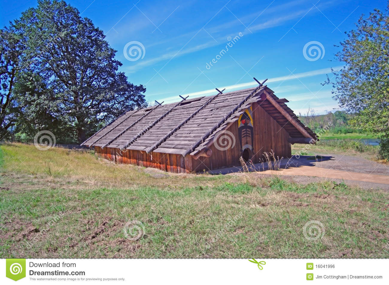 Chinook Indian Cedar Plankhouse Stock Photo  Image 16041996