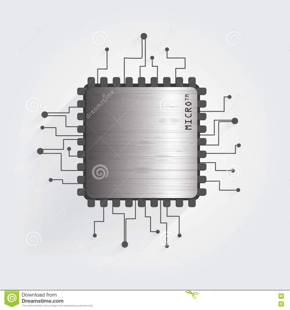 medium resolution of the chip on a white background vector