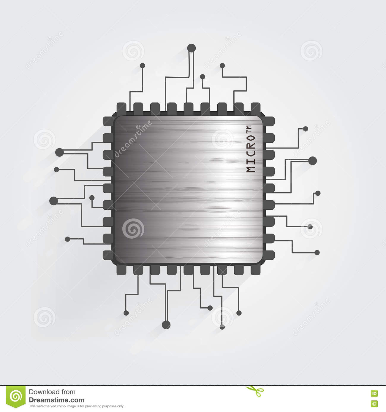hight resolution of the chip on a white background vector
