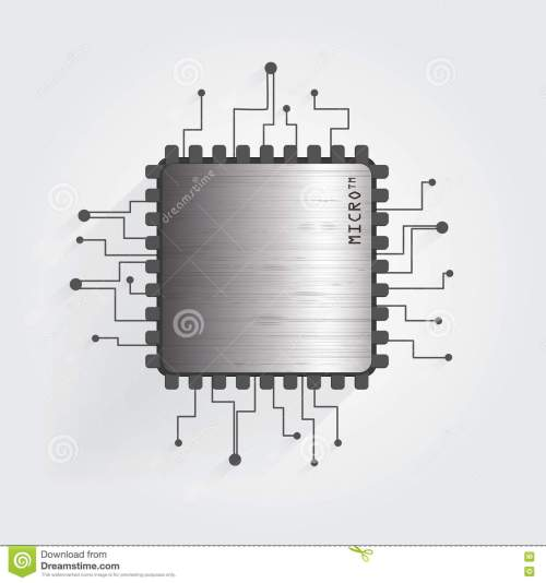 small resolution of the chip on a white background vector