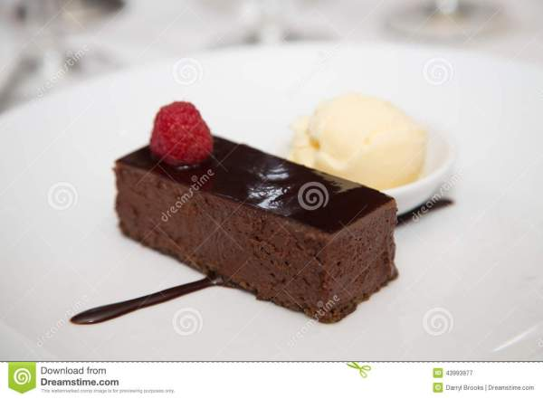 Chocolate Cake with Ice Cream Dessert