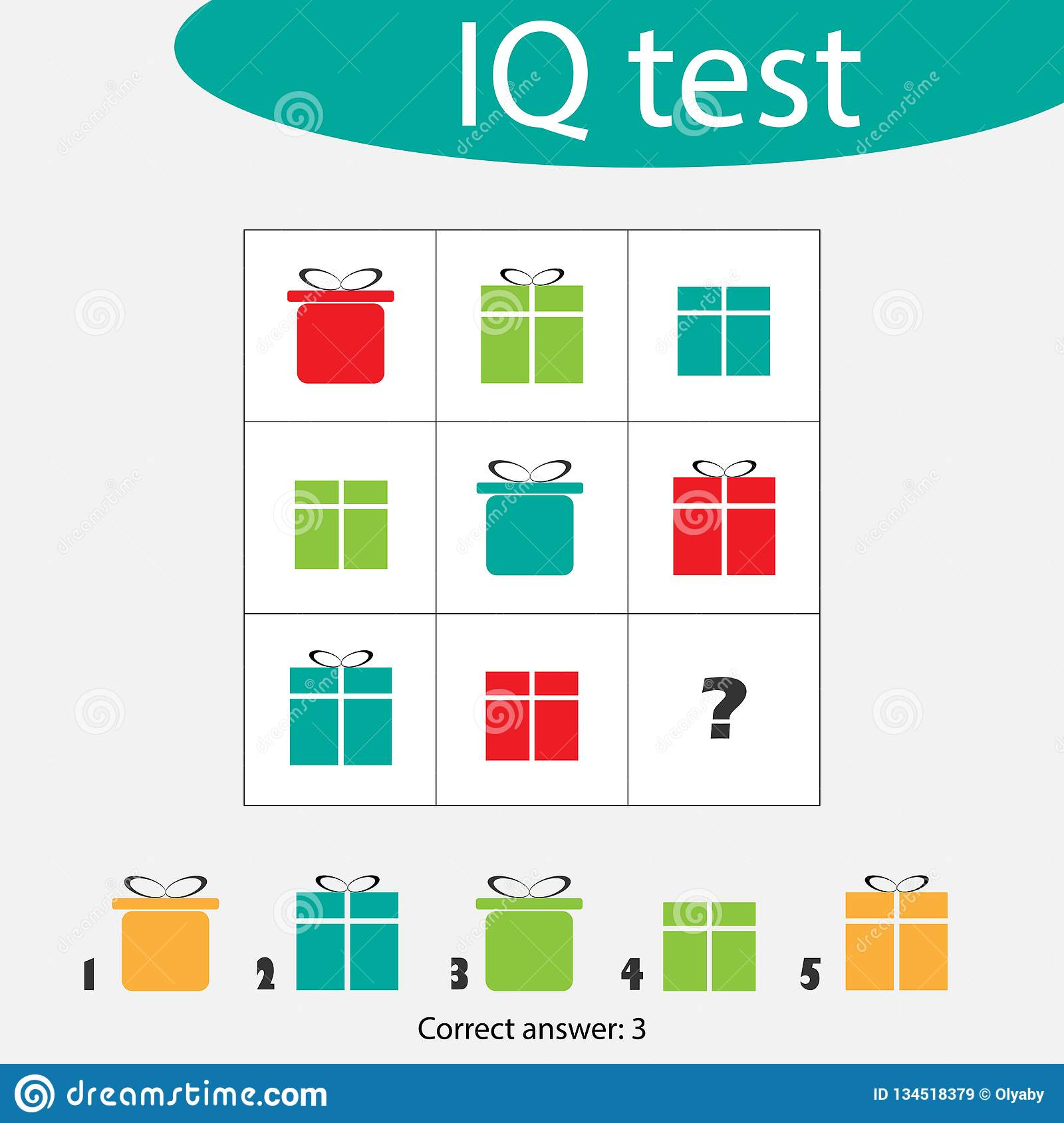 Choose Correct Answer Iq Test With Christmas T Boxes