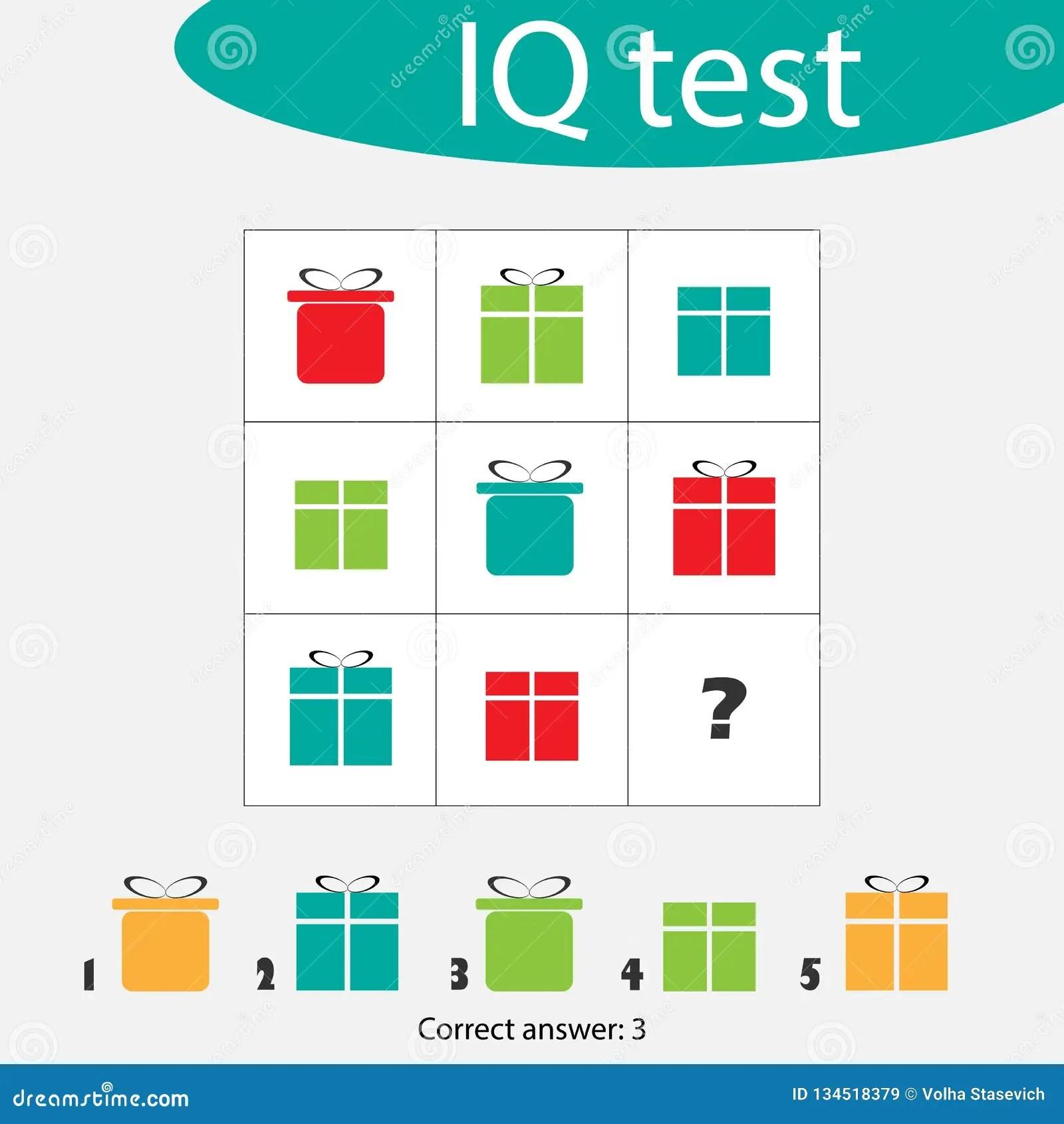 Iq Test Choose Correct Answer Cartoon Vector