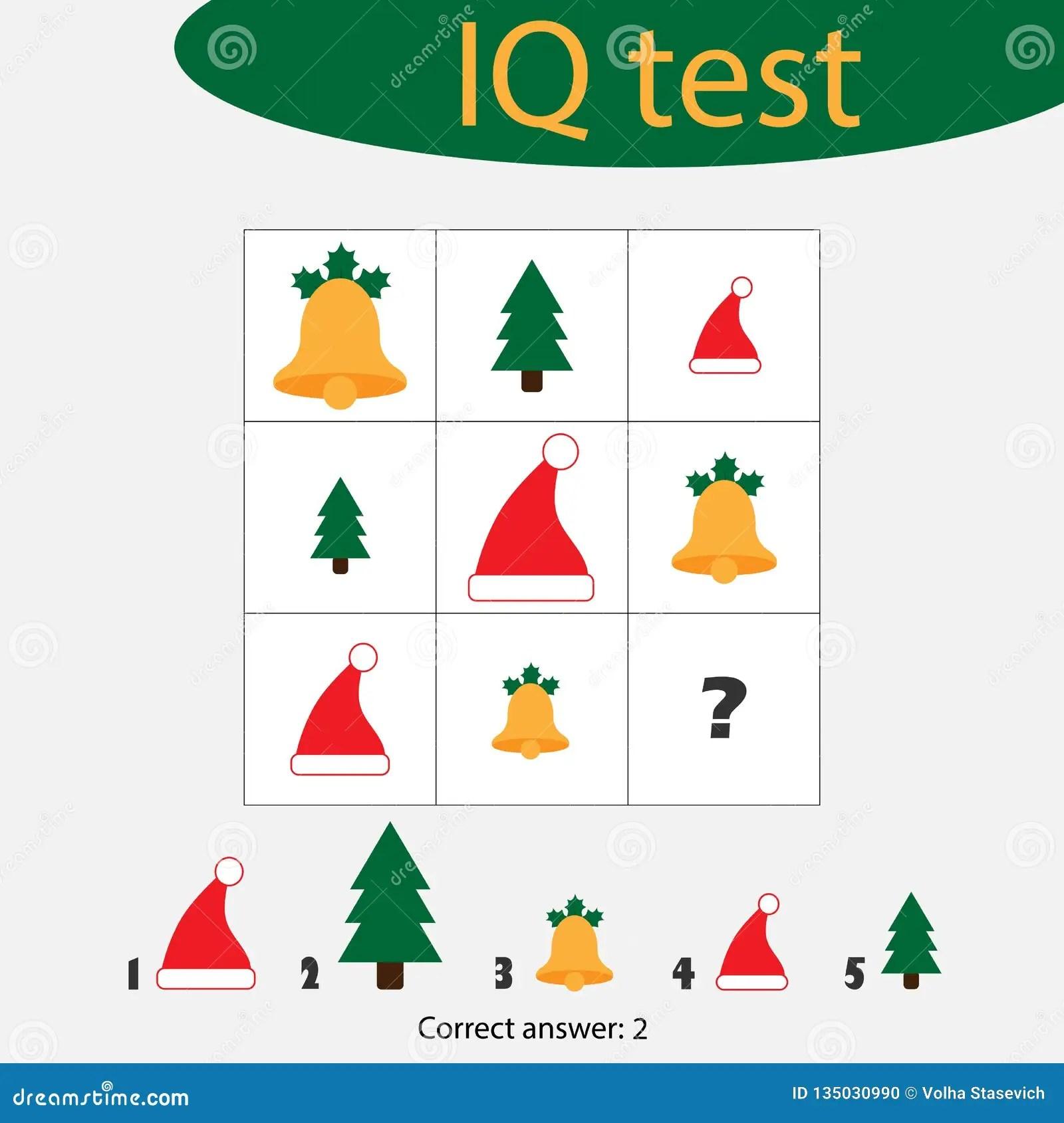 Iq Test Choose Answer Vector Illustration