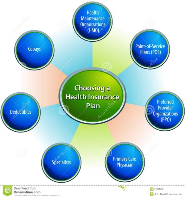 Choosing Health Insurance Plan Chart Stock