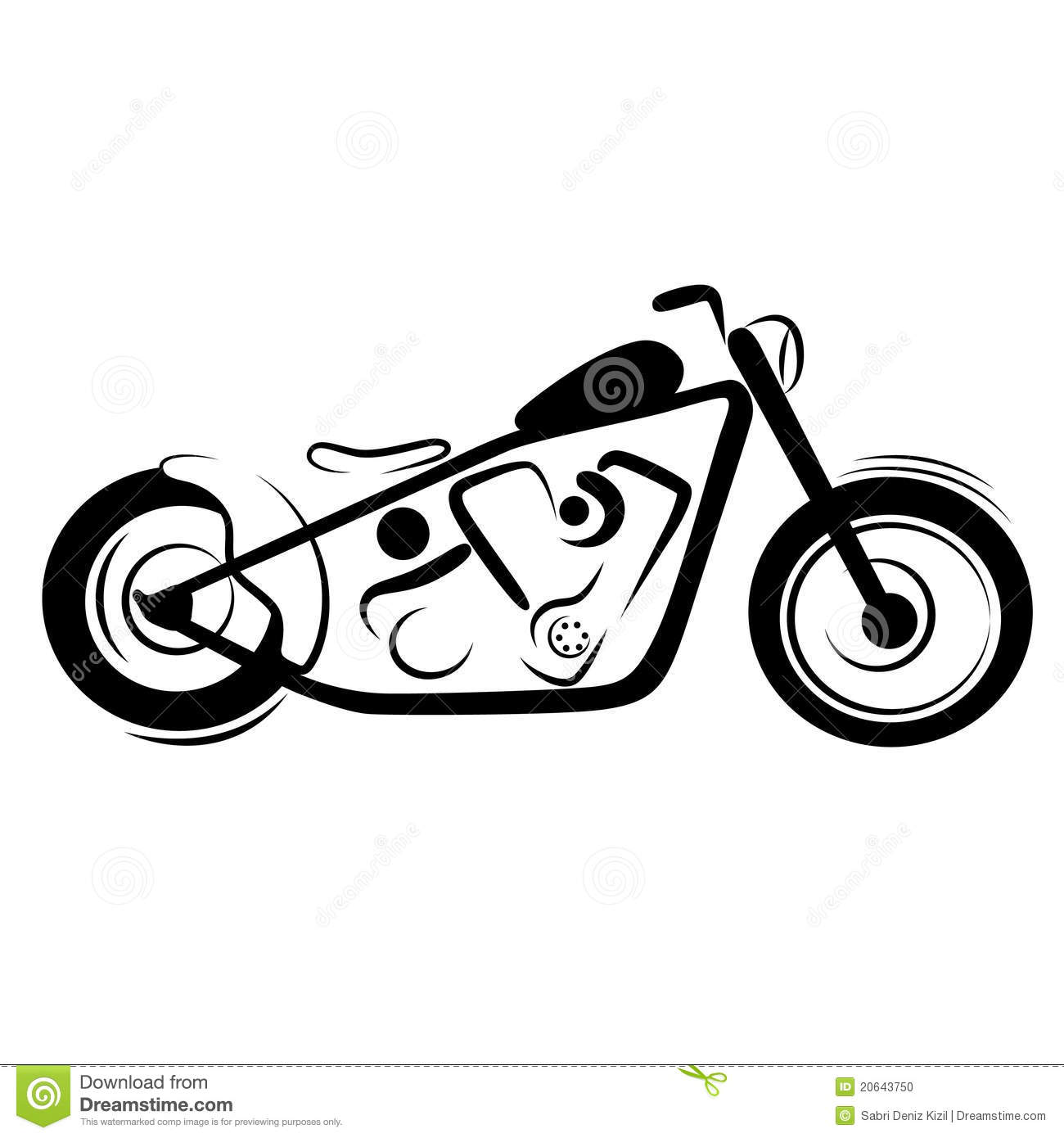 Chopper Motorcycle Stock Vector Illustration Of Isolated