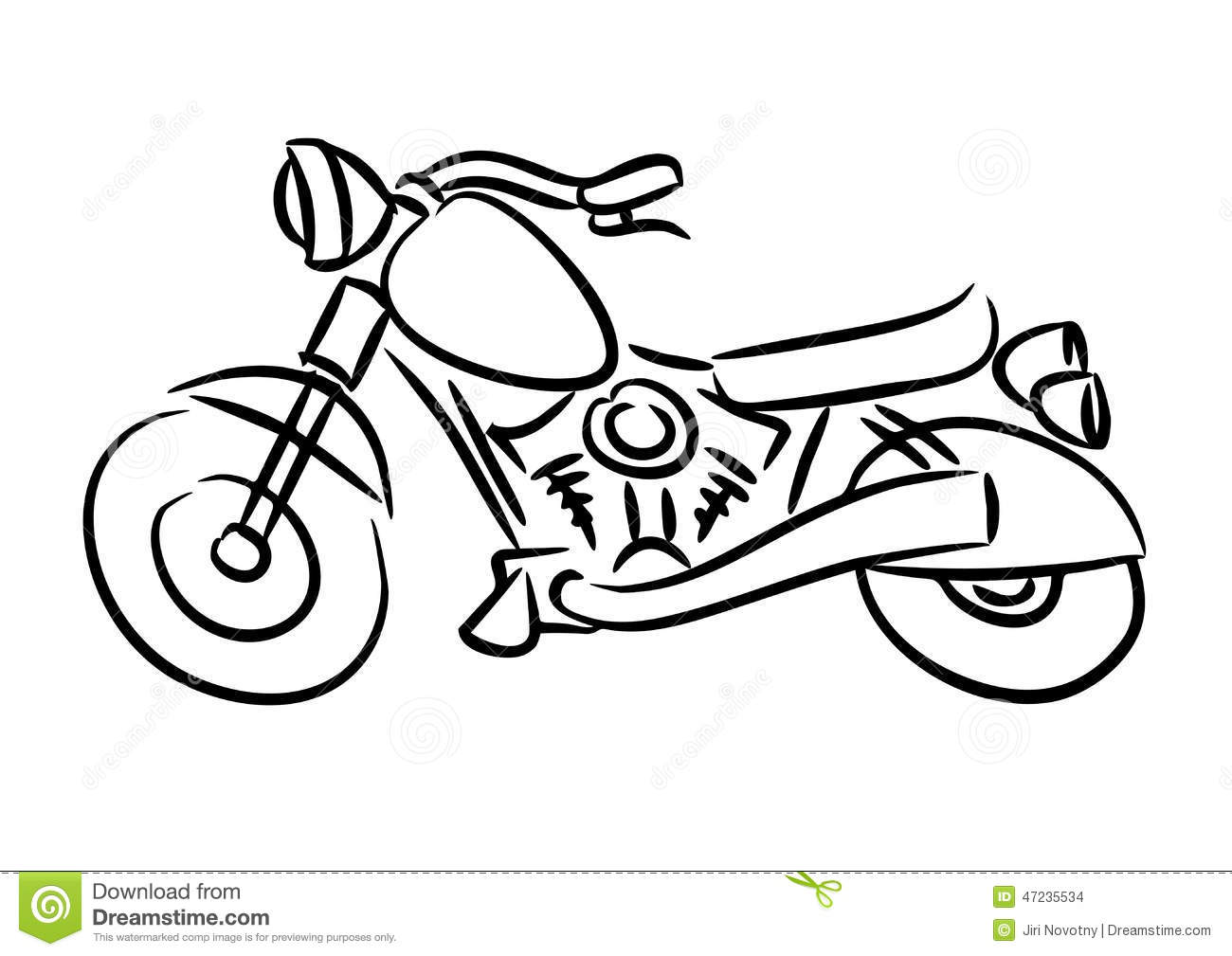 The Chopper Motorcycle Stock Illustration