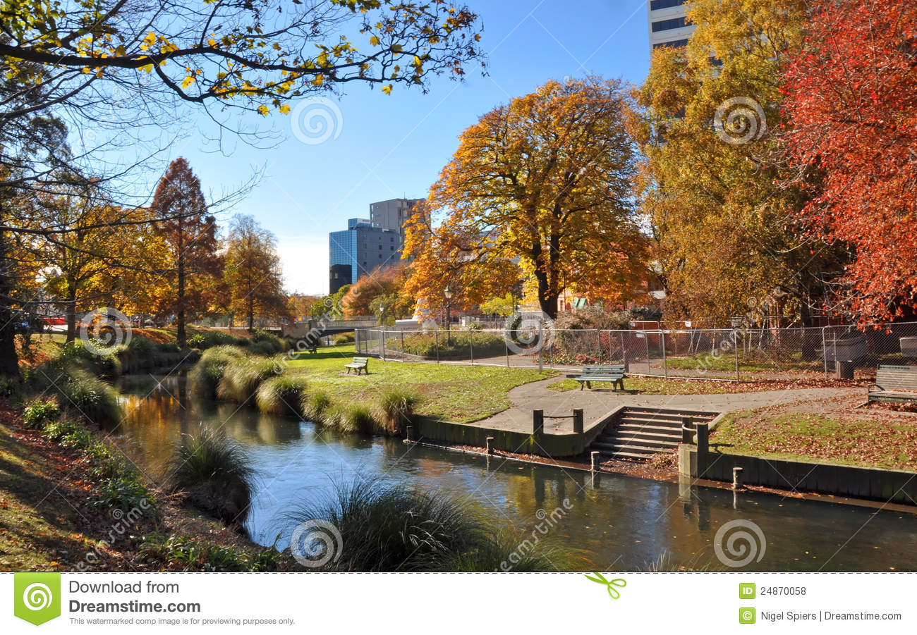 Free Wallpaper Fall Colours Christchurch City Amp Avon River In Autumn Editorial Stock
