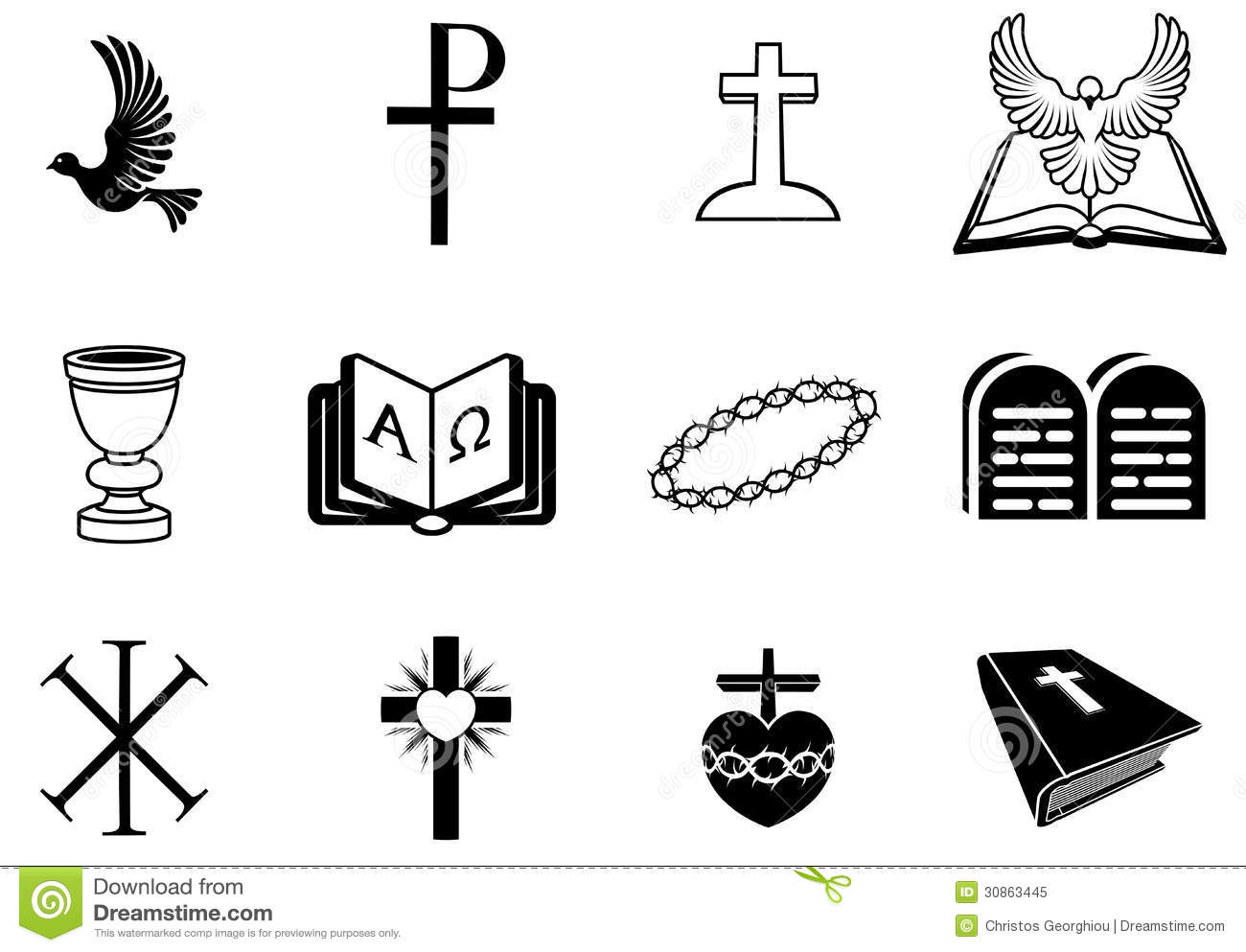 Christian Religious Signs And Symbols Royalty Free Stock