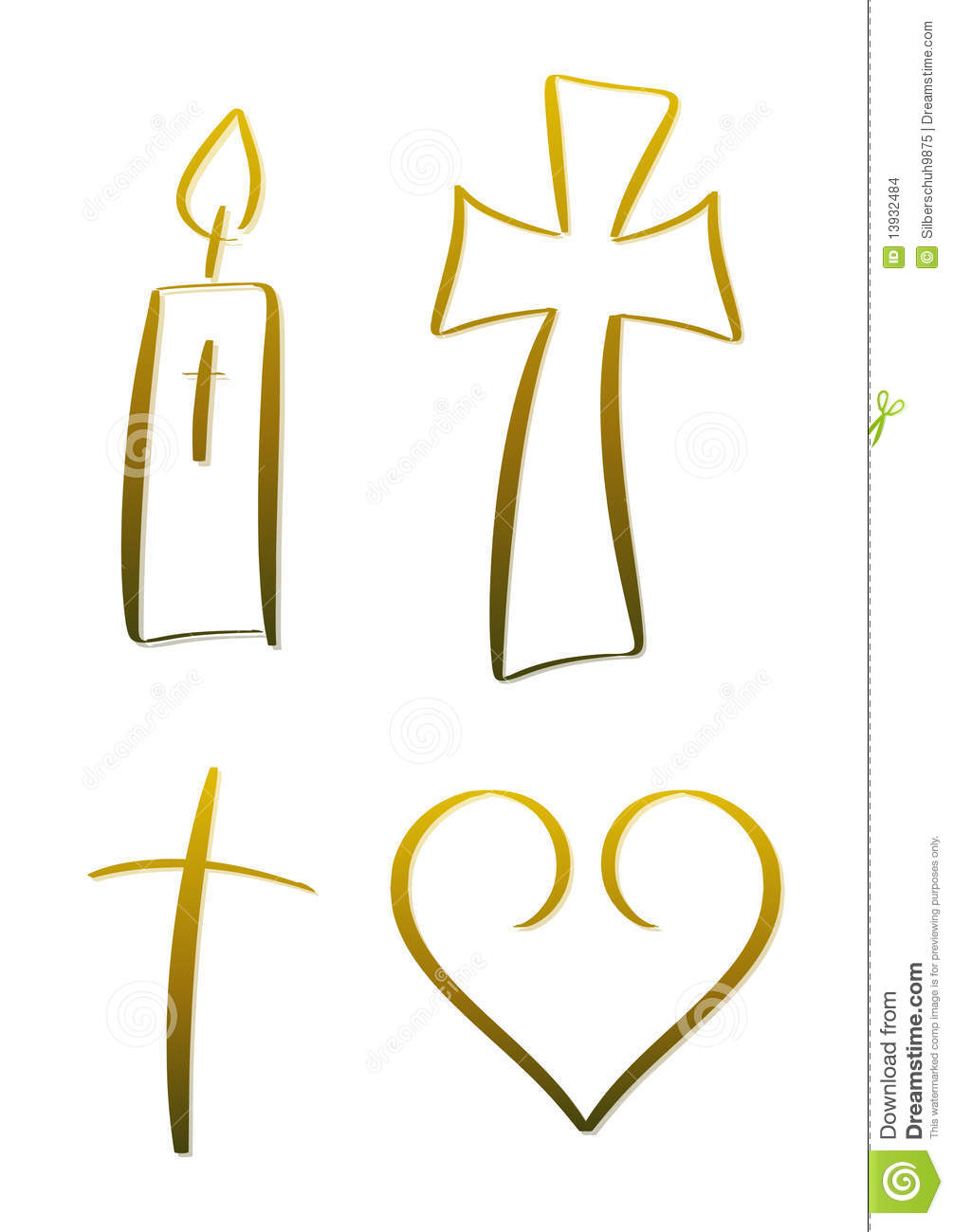 Christian Symbols Stock Images  Image 13932484