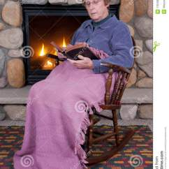 Free Rocking Chair Plans Best Ergonomic Chairs 2018 Christian Woman Bible Fireplace Royalty Stock Photography - Image: 17610867