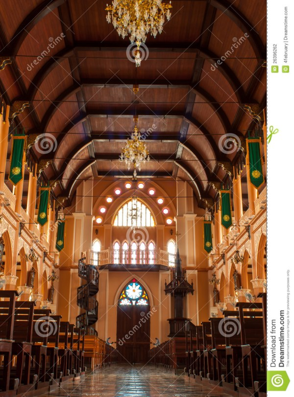 Christianity Church In Thailand Stock