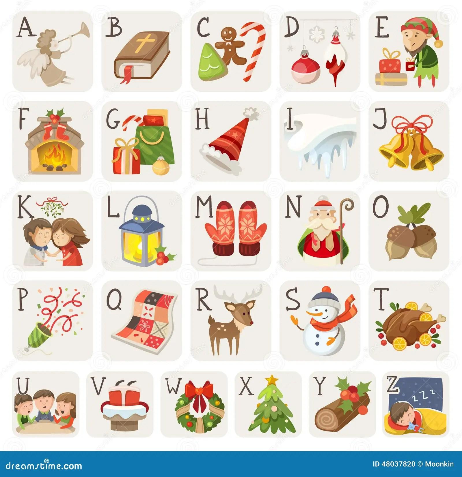 Christmas Alphabet Stock Vector Image 48037820