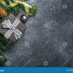 Christmas Background On Black Table Stock Photo Image Of Stone Gift 157963930