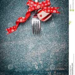 Kitchen Utensil Set Cheapest Place To Buy Cabinets Christmas Background With Fork And Festive Decoration On ...