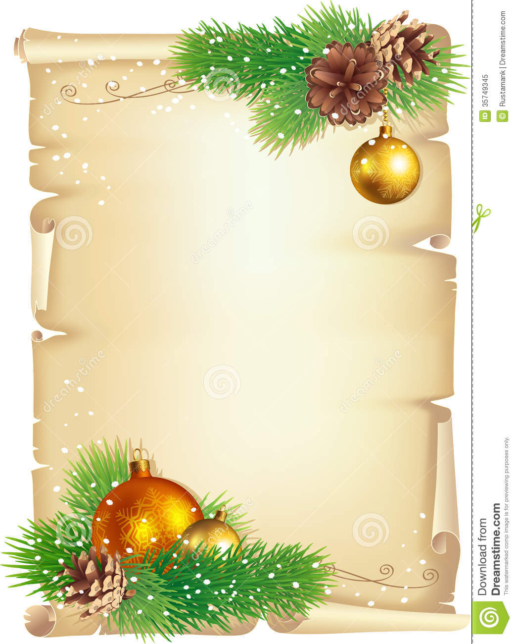 Christmas Background Stock Vector Illustration Of Ball