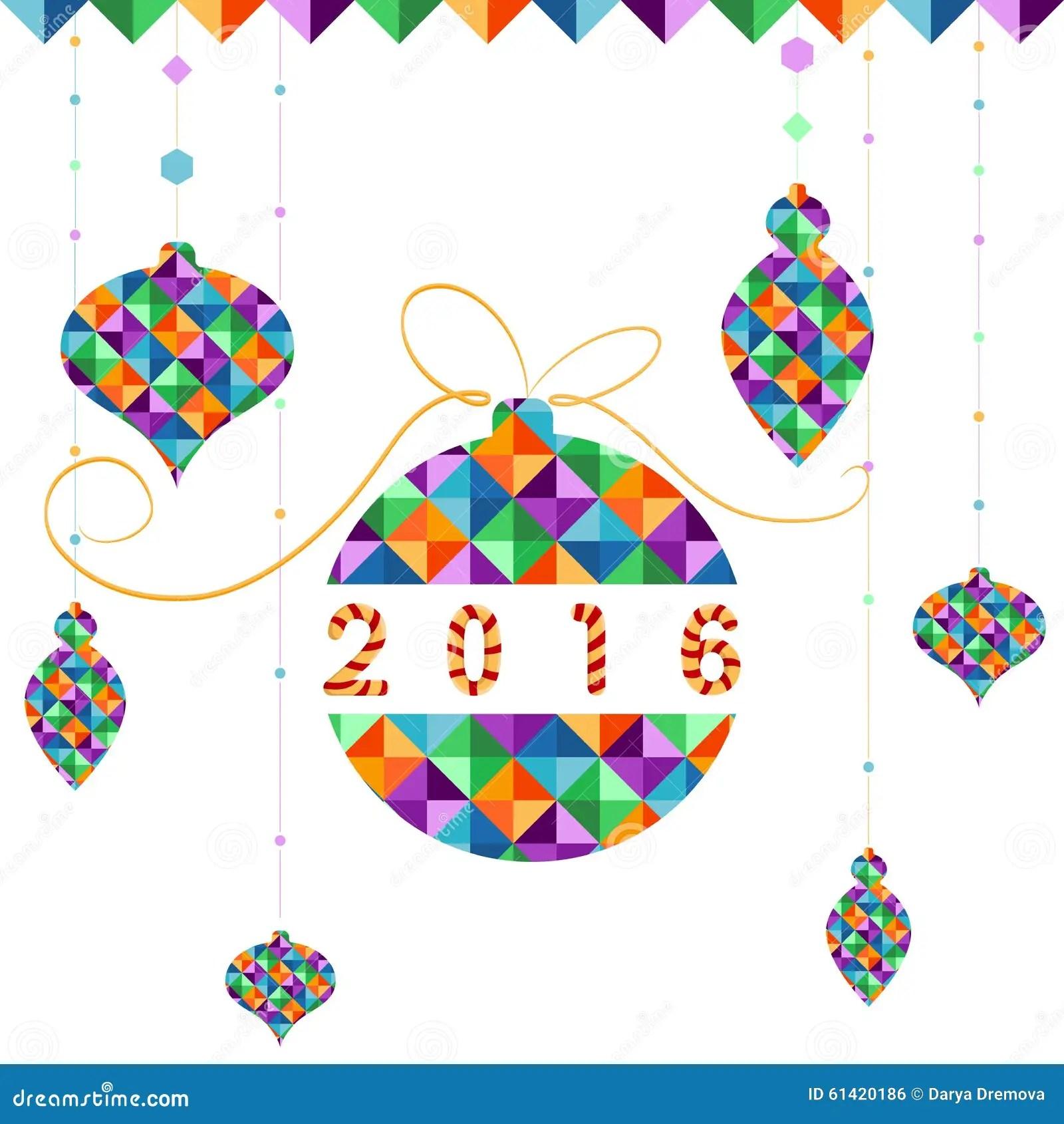 Christmas Ball Of Geometric Shapes Holiday Design