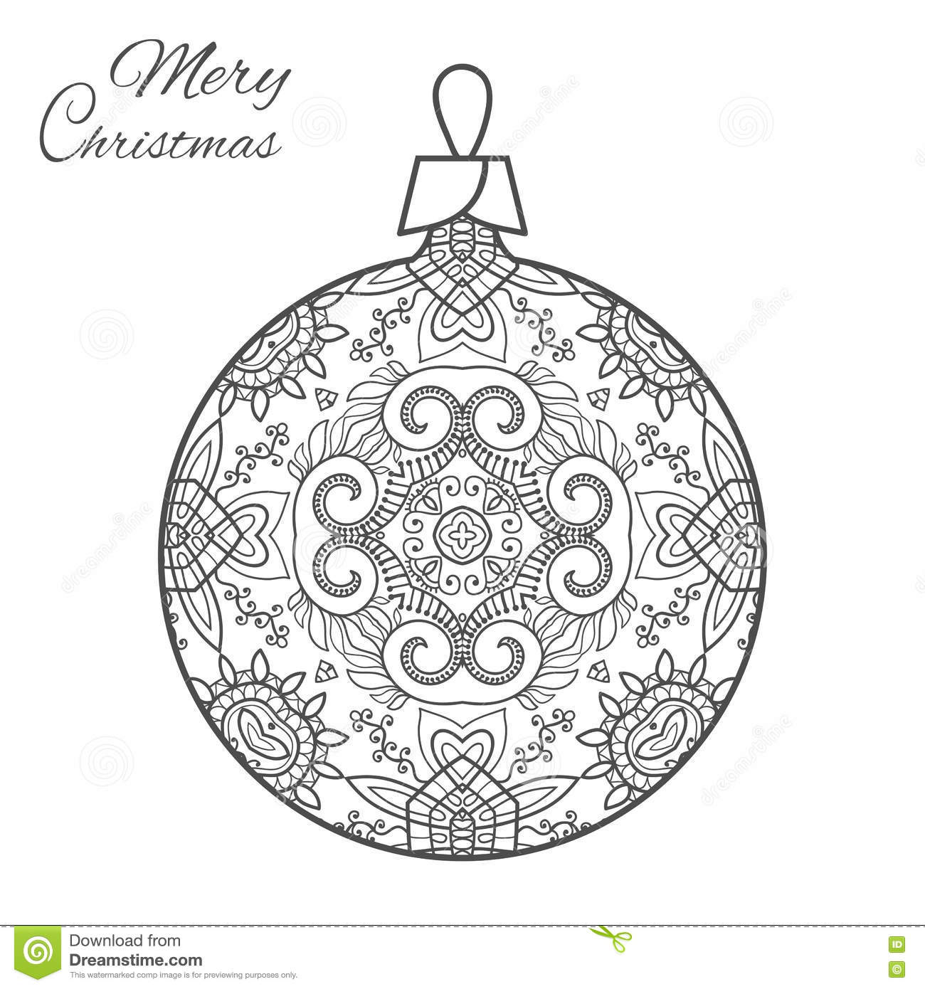 Religious Christmas - Doodle Art Coloring Page   Free Sketches Clipart