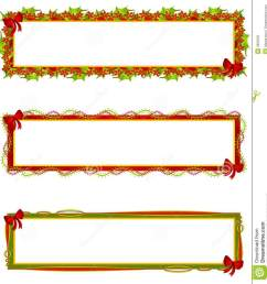 a clip art illustration of your choice of 3 christmas themed banners logos or labels a mix of decorative bows ribbons holly leaves and poinsettia  [ 1260 x 1300 Pixel ]