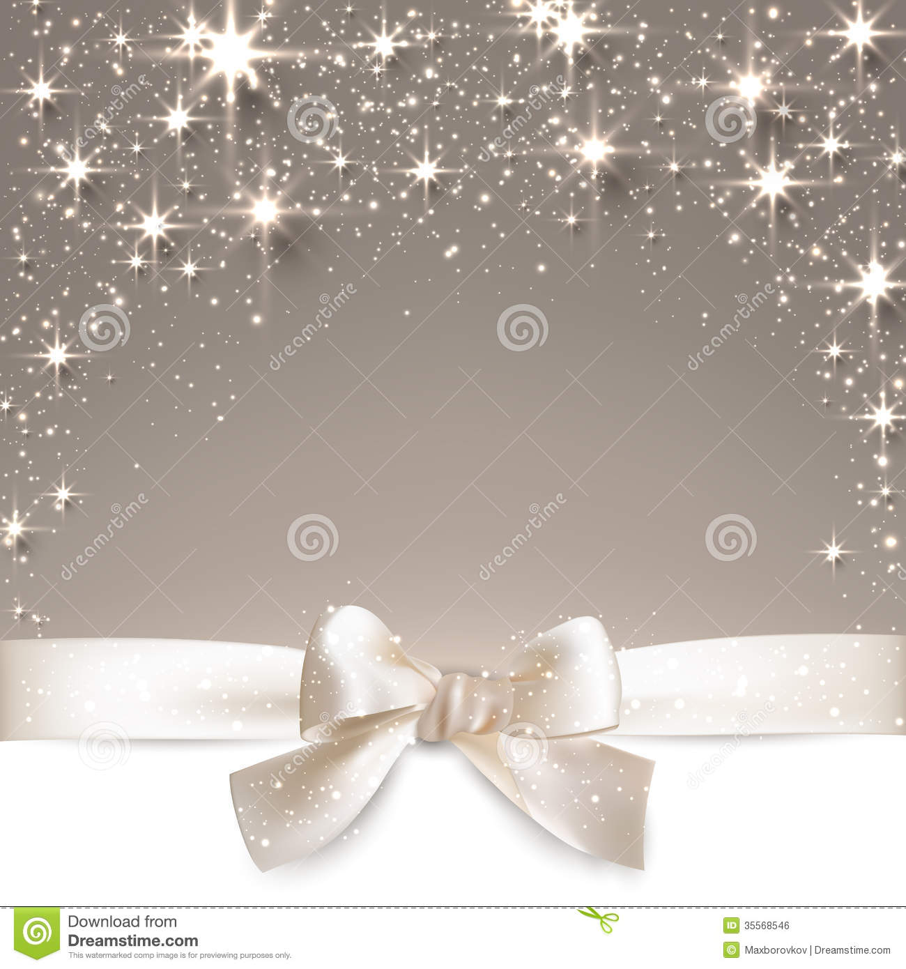 3d Snow Falling Wallpaper Christmas Beige Starry Background Royalty Free Stock