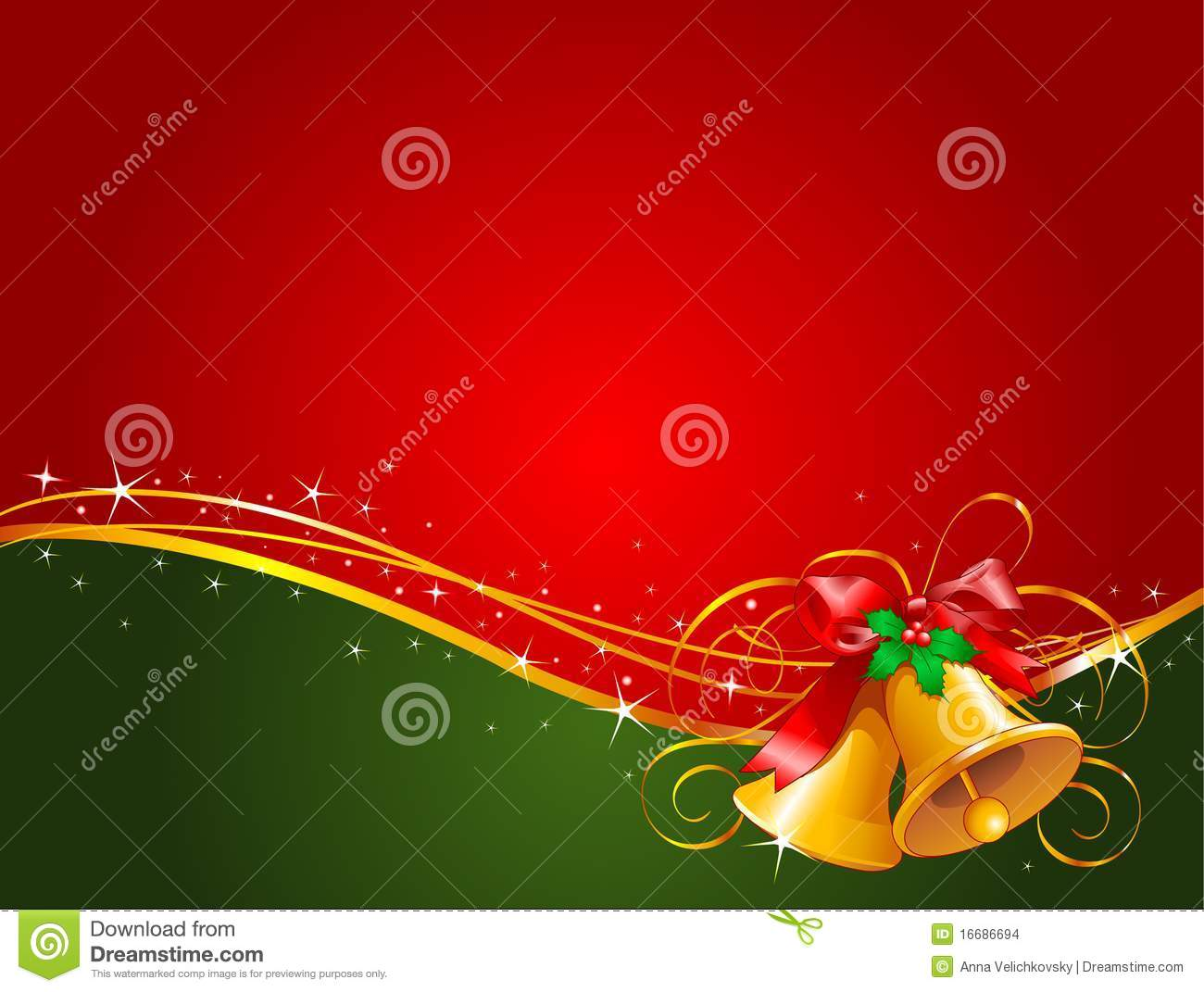 Christmas Bells Background Stock Images Image 16686694