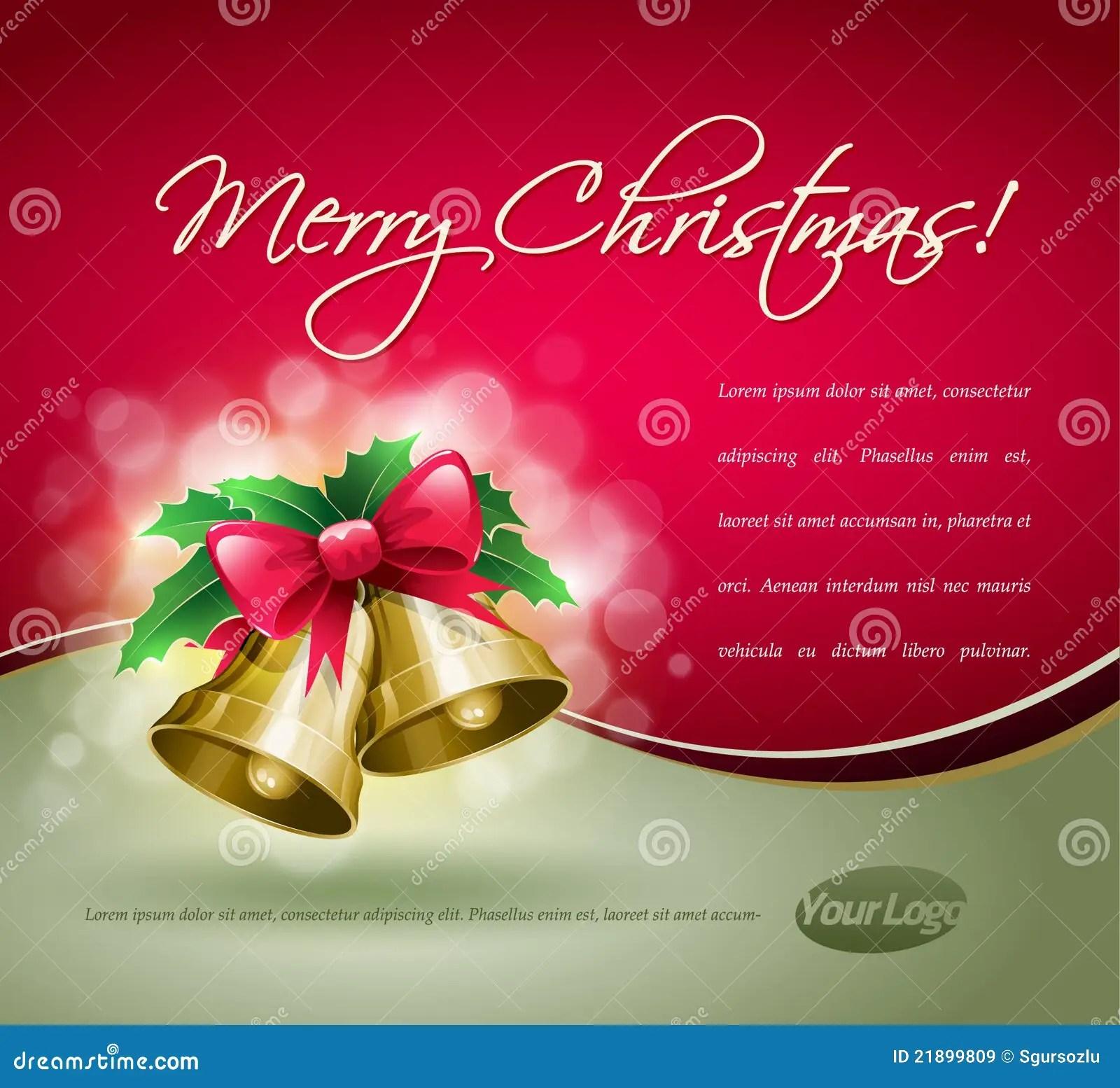 Christmas Bells Card Stock Vector Image Of Jingle