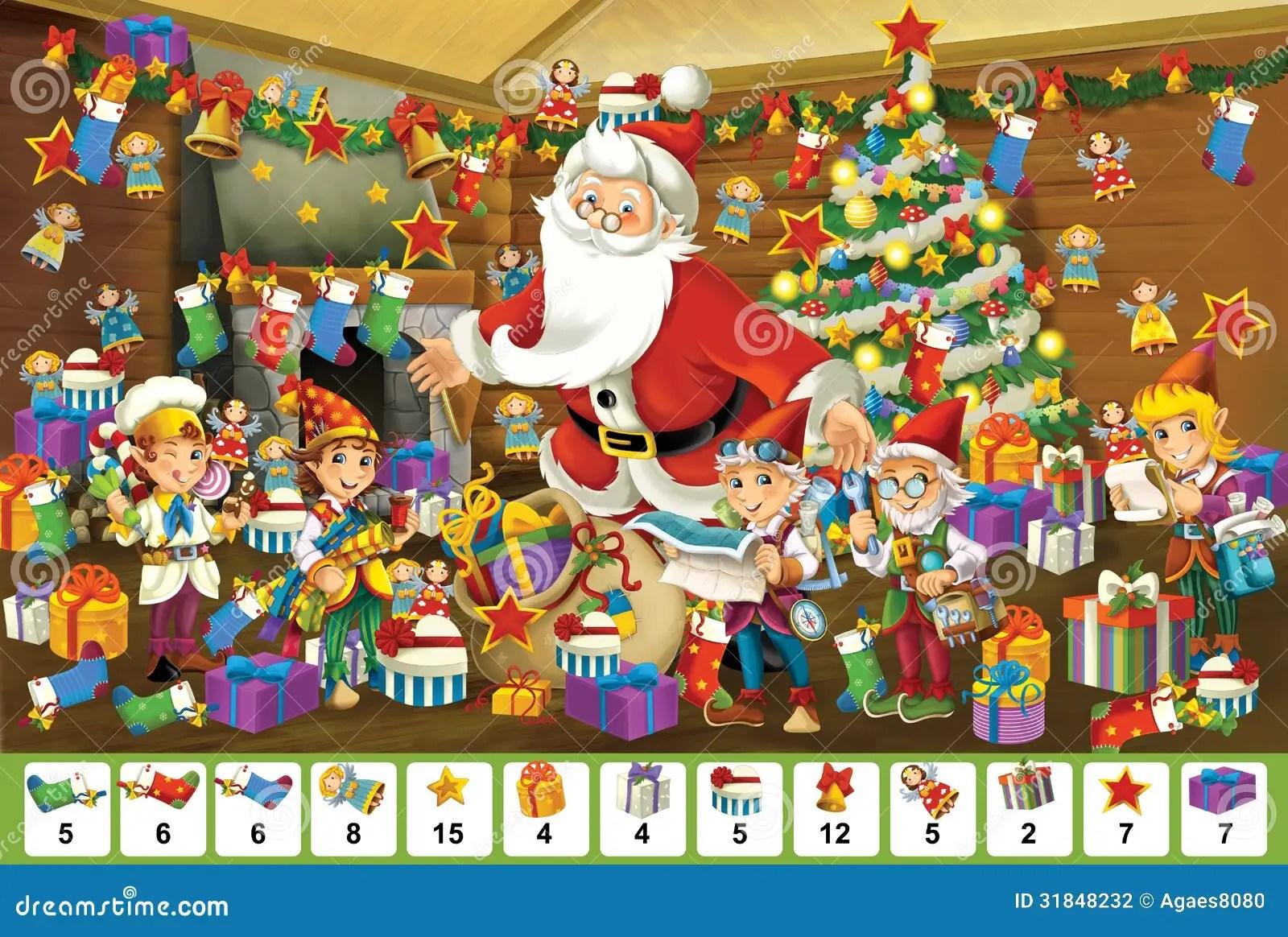 The Christmas Board Game Santa Claus Stock