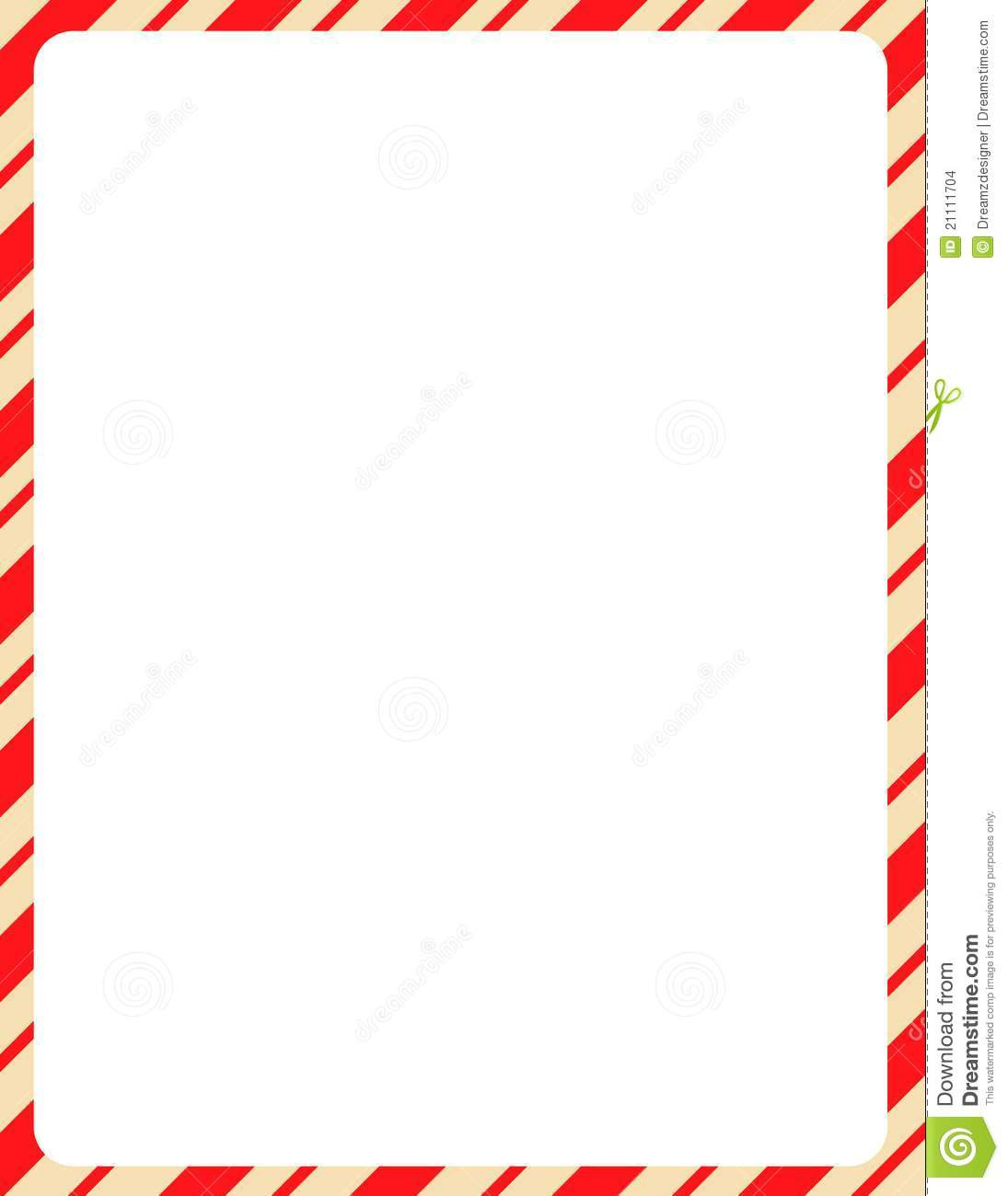 hight resolution of christmas border candy cane