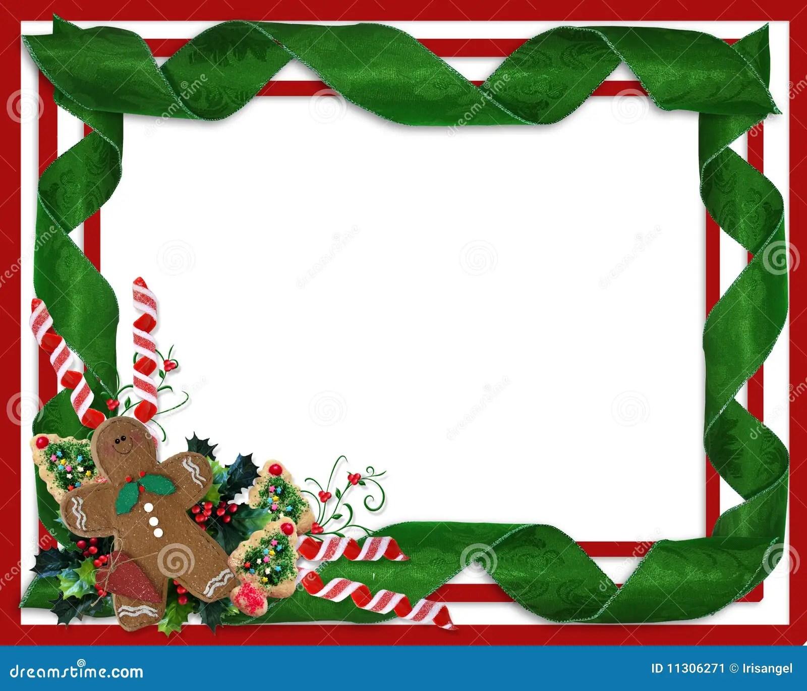 Christmas Border Ribbons And Treats Stock Illustration