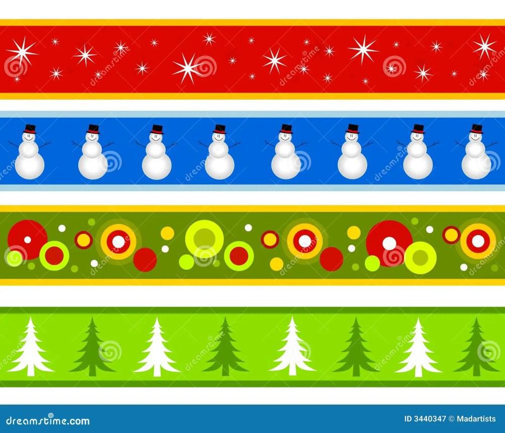 medium resolution of christmas borders or banners