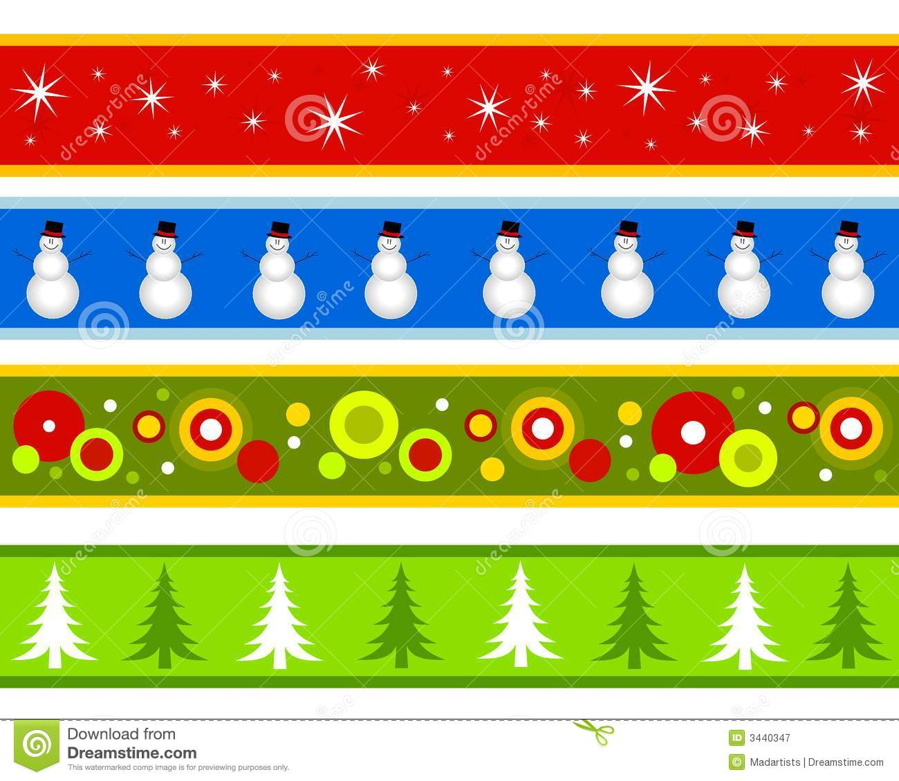 hight resolution of christmas borders or banners