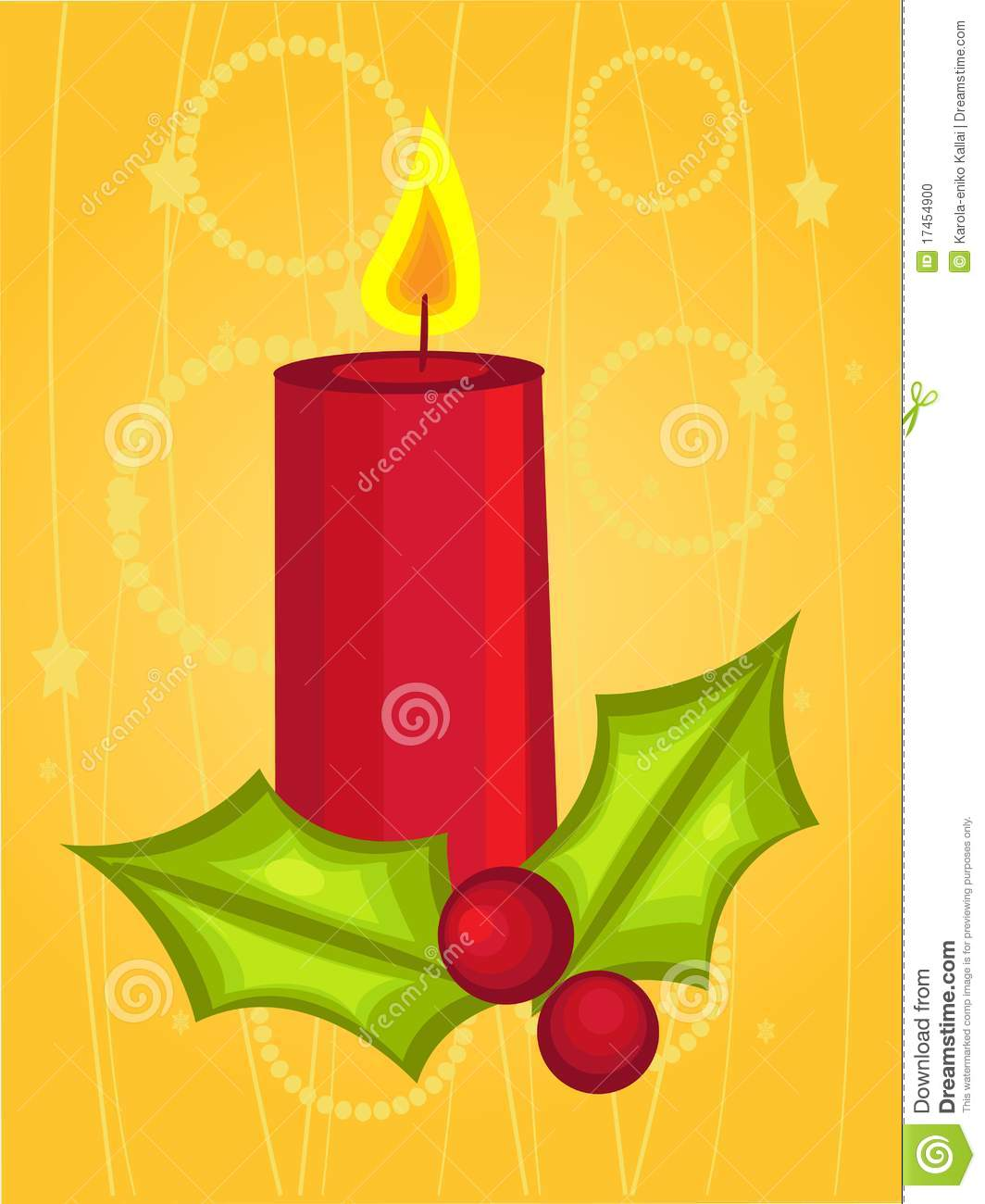 Christmas candle cartoon stock vector Illustration of candle  17454900