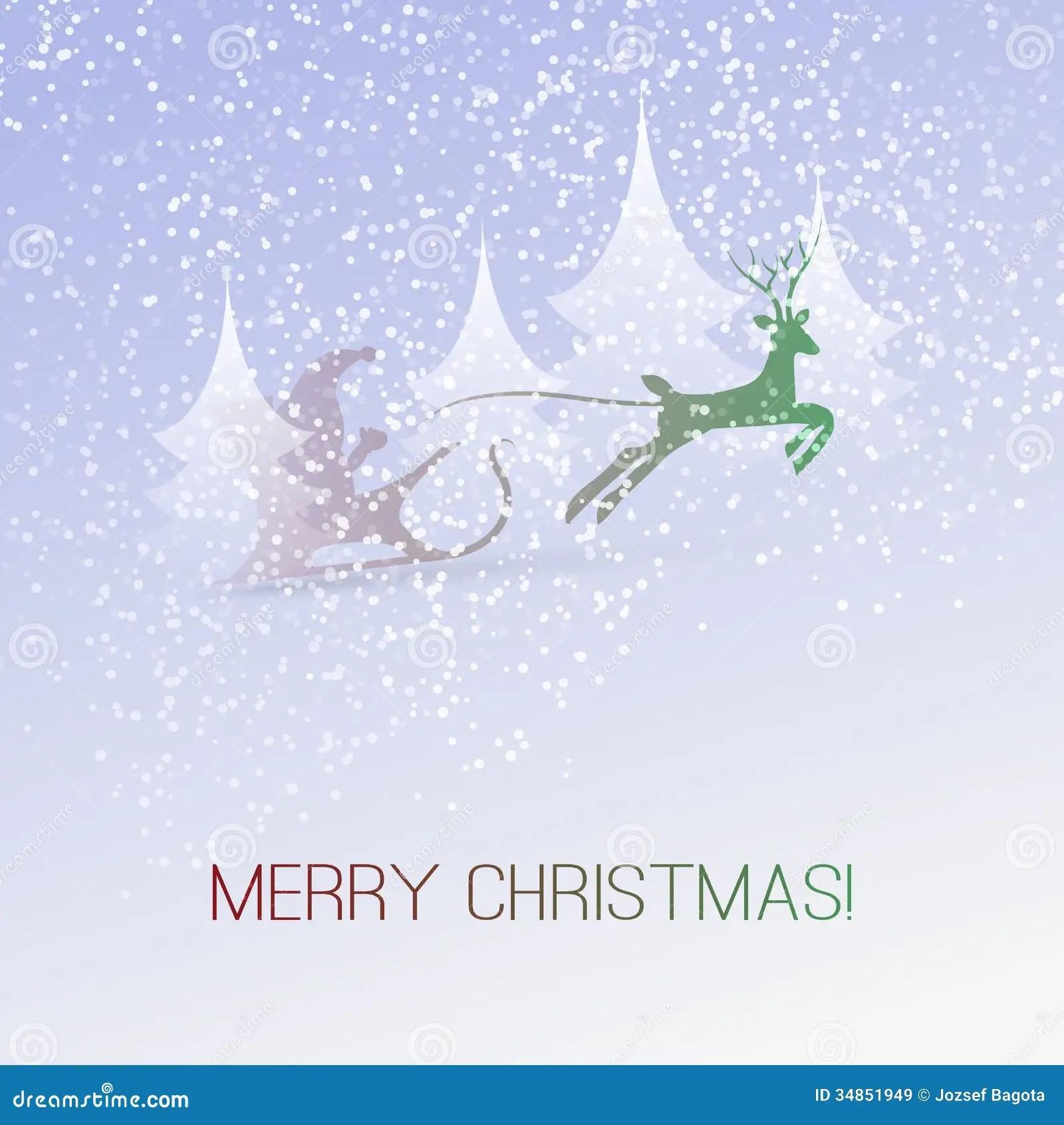 Fall Deer Wallpaper Christmas Card Stock Vector Image Of Celebrate Deer