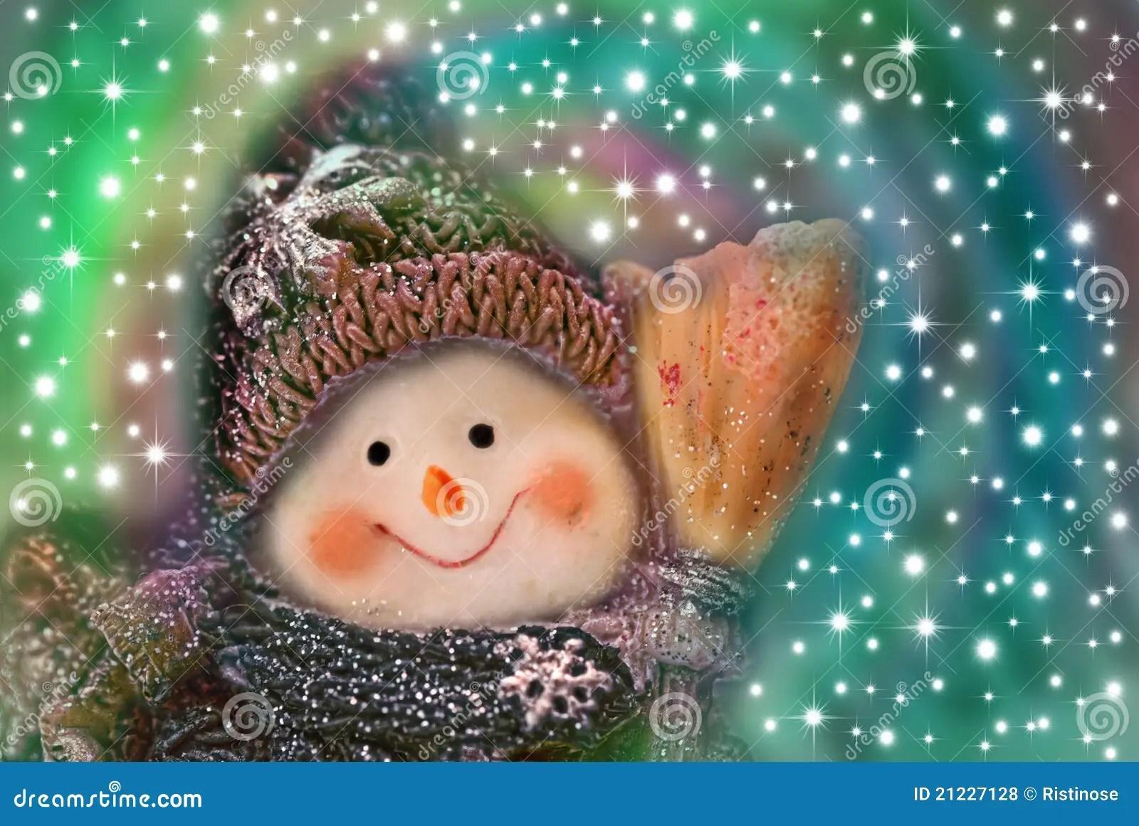 Christmas Card Funny Snowman Royalty Free Stock Photos